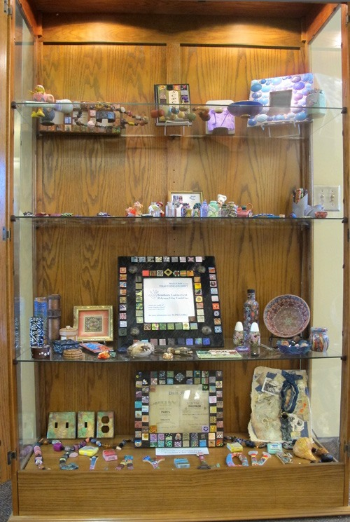 Display Case at the West Haven Library