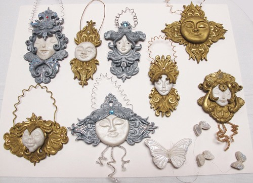 Baroque Christmas Ornaments by Carole Monahan