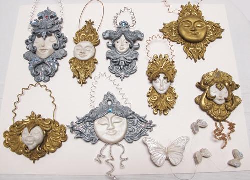 Baroque Christmas Ornaments by Carole Monahan