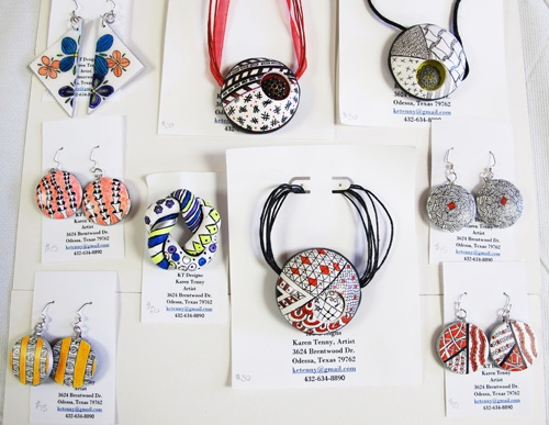 Some jewelry pieces by Karen Tenny