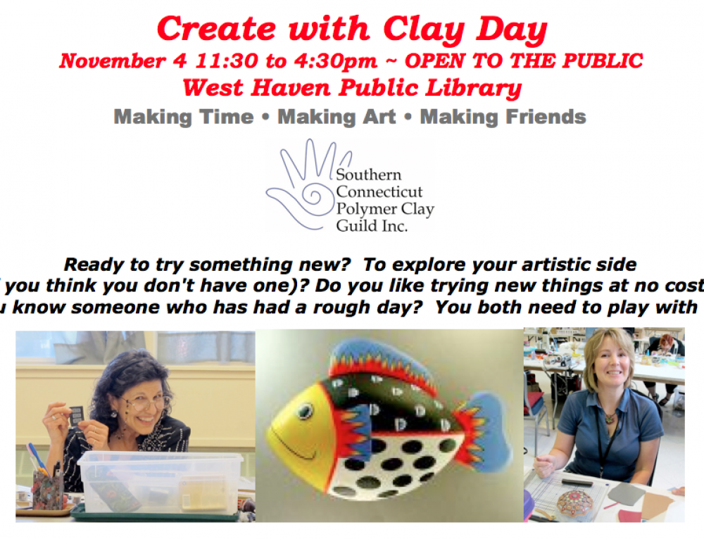 Clay Day 11/4/17 West Haven Library
